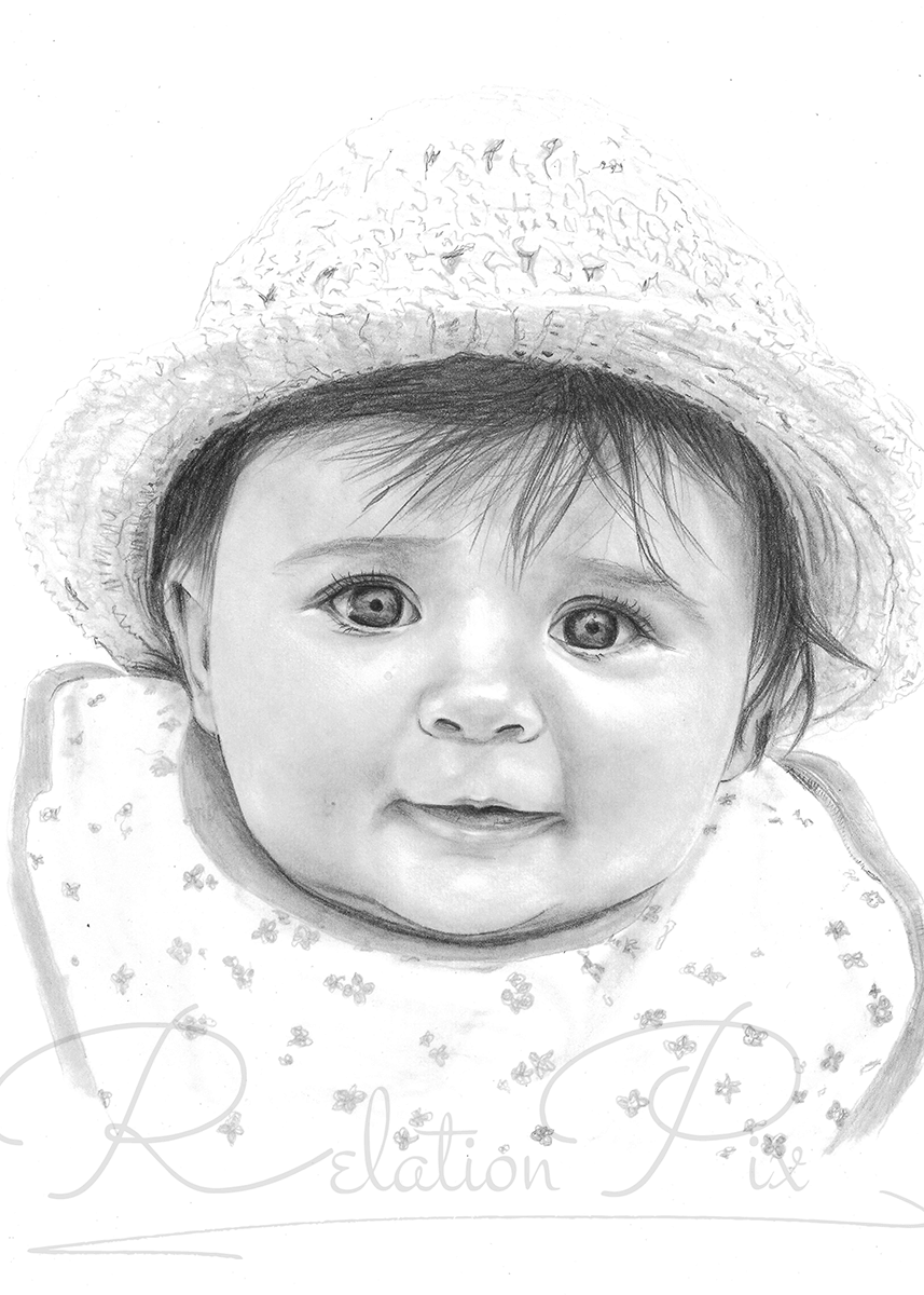Pencil portrait gift to a friend