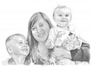 Pencil portrait drawing from favourite photo